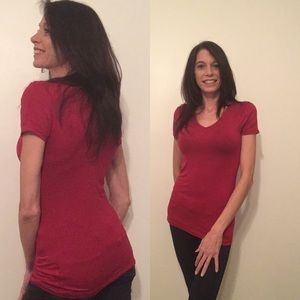 Tops - Red V-Neck Tee
